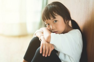 The effects of a child going through the effects of her parents in a divorce.